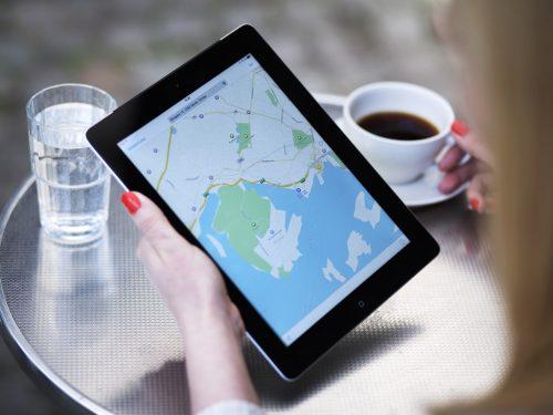 iPad and coffee