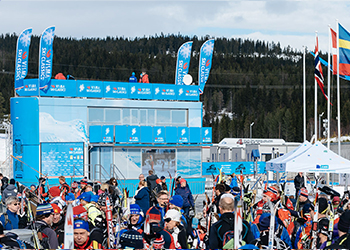 Visma's own afterski camp that is set up at Birkebeinerrennet and Vasaloppet