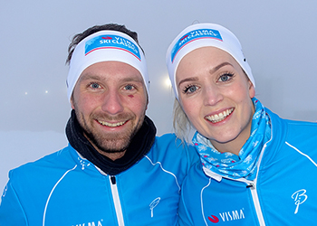 Visma employees who have been challenged to get in shape and participate in the Finnish race Ylläs-Levi