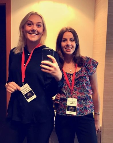 Management trainees Ebba and Louise attending Visma PUDD