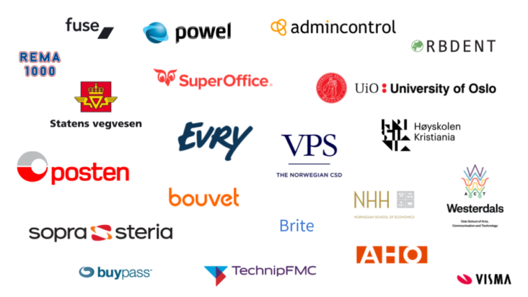 These are some of the companies that joined us for our UX day in Oslo.