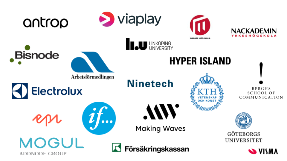 These are some of the companies that joined us for our UX- & Service Design day in Stockholm.