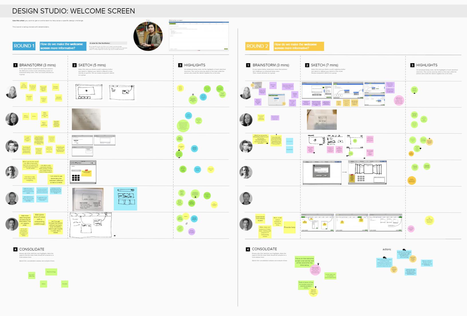 The tool Mural for running virtual design studios