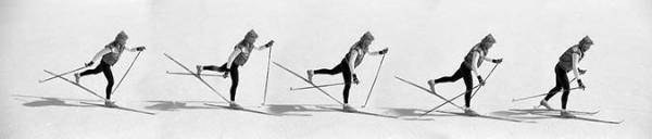 Diagonal skiing