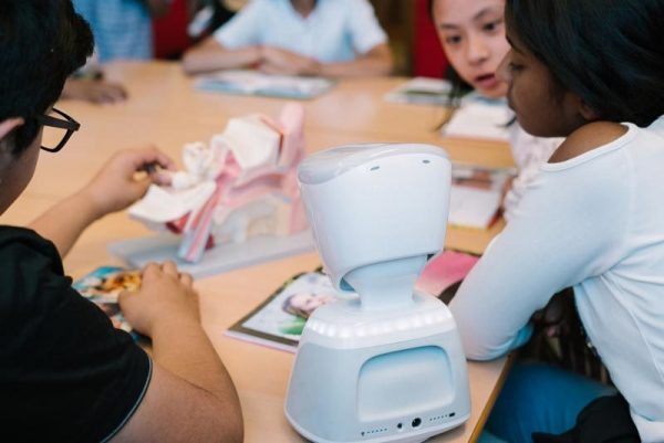 AV1 robot in the classroom
