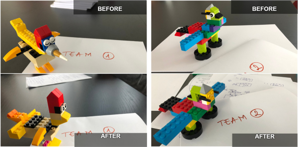 Some of the results from the Lego Bird challenge