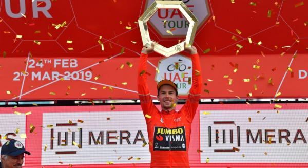 Primos Roglic after his victory in Vuelta Espana