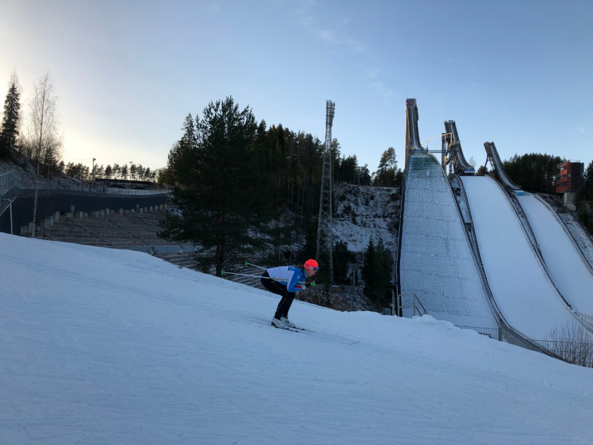 Skiing as stress relief