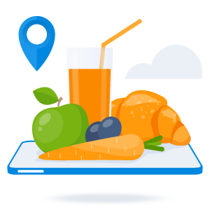 Online breakfast meeting illustration