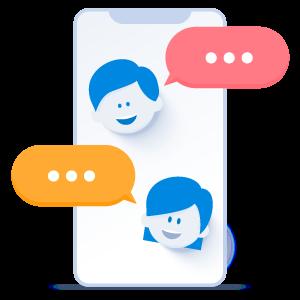 Online meetings illustration