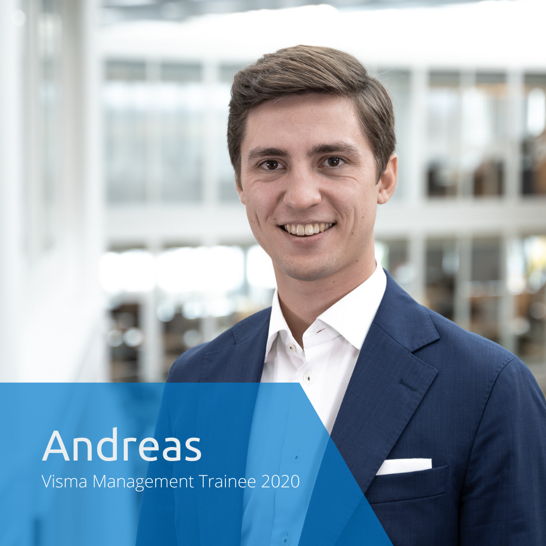 Get to know this year's Visma Management Trainees: Andreas