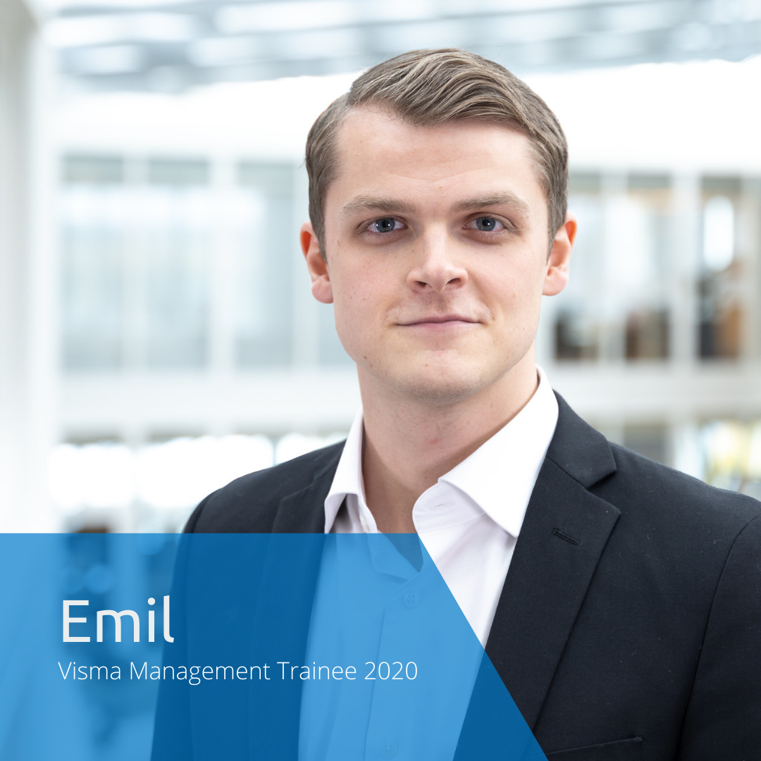 Get to know this year's Visma Management Trainees: Emil
