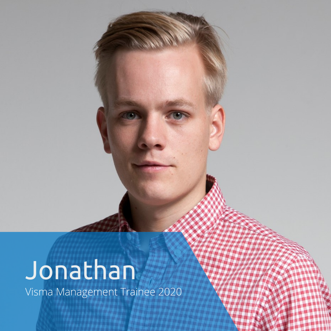Get to know this year's Visma Management Trainees: Jonathan
