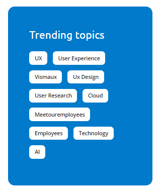 Trending topics module