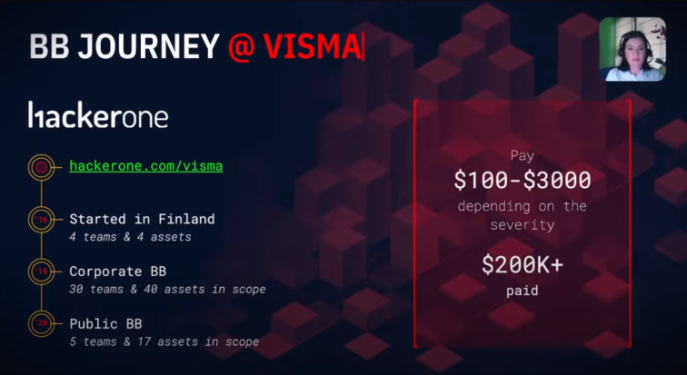 Ioana Piroska speaks at Visma SecCon 2020 about Visma's Bug Bounty program