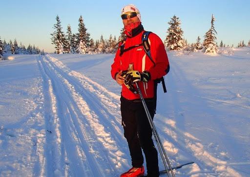 Lasse Andreassen in the ski tracks
