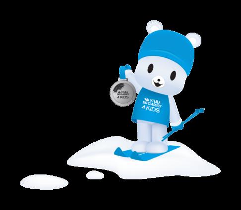 Visma Ski Classics for Kids ski app mascot