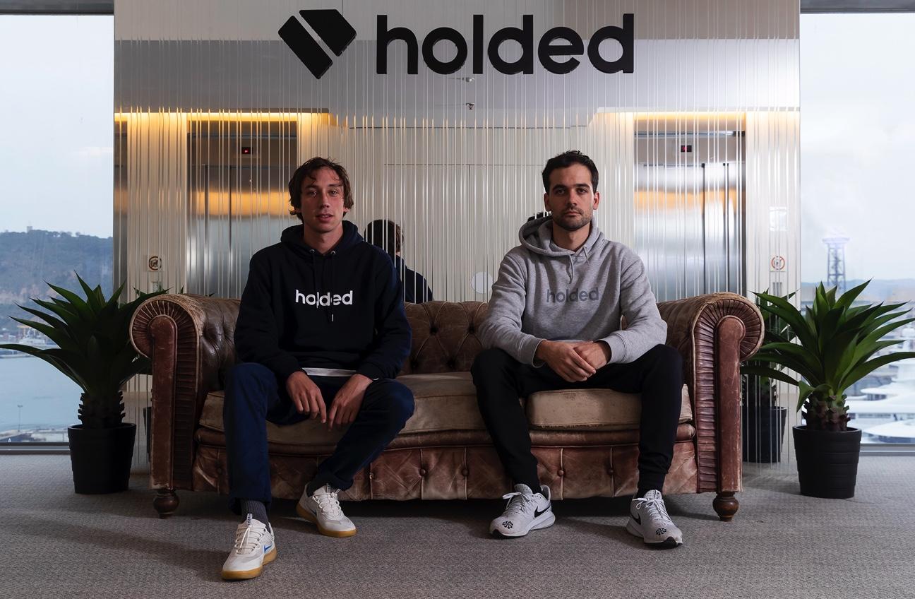 Holded founders Javi Fondevila and Bernat Ripoll (left to right)