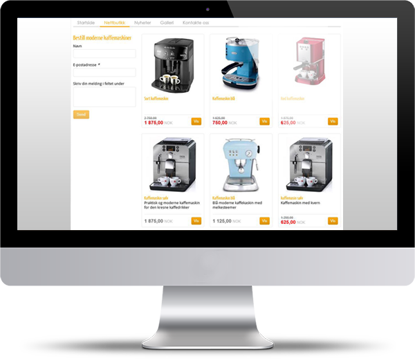 Startup software - web shop