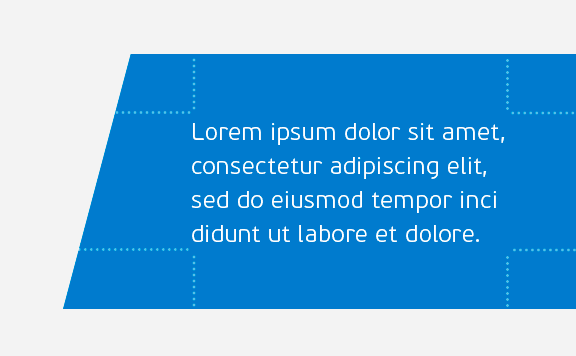 Design element good text padding