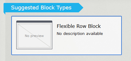 Screenshot of flexible row block